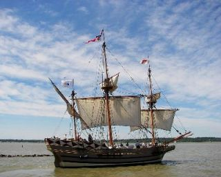 Replica of the Godspeed, one of three ships that carried the first Jamestown colonists from England