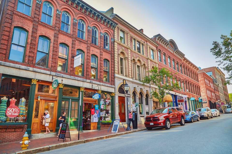 Downtown Portland Maine Shopping