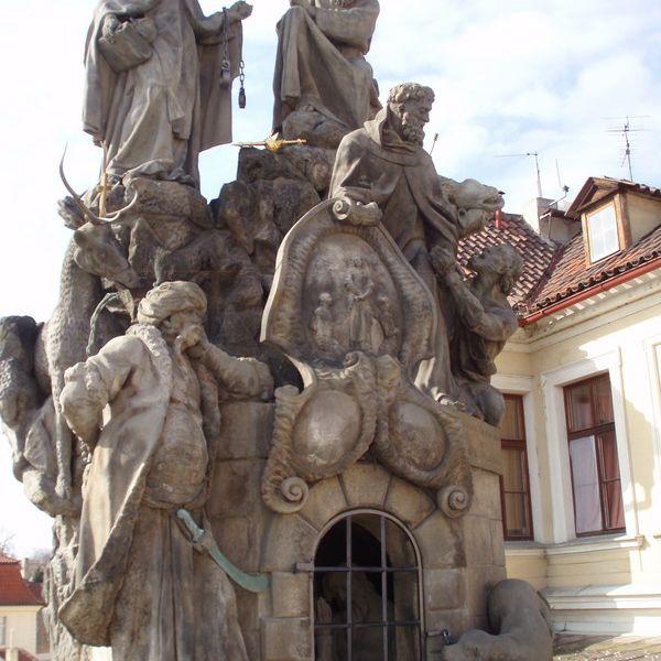 San Juan de Matha, Félix de Valois e Iván en el Puente de Praga de Praga