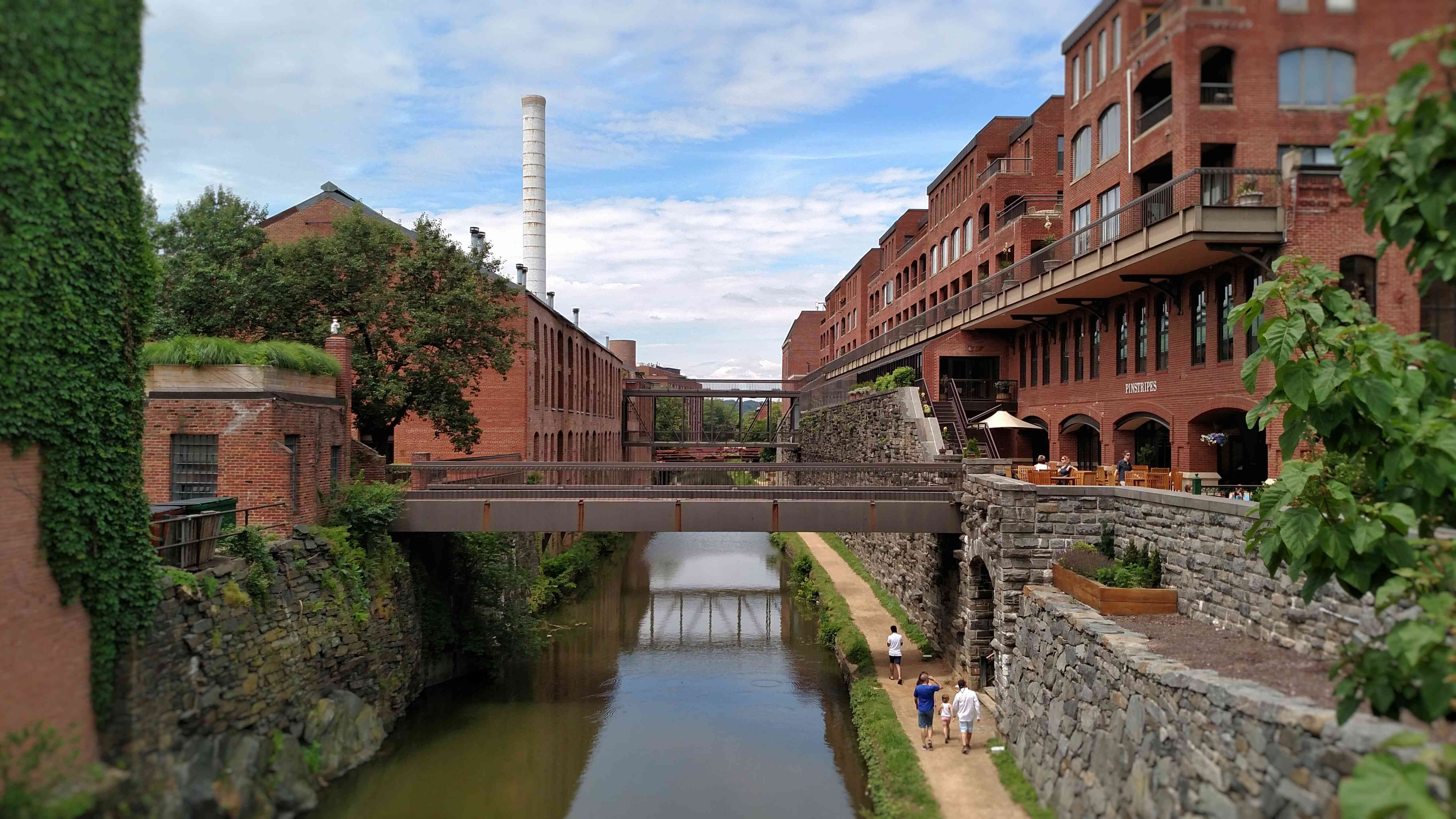 View of buildings along canal in Georgetown