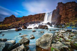 Oxararfoss waterfall, Thingvellir National Park, Iceland