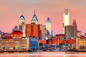 Downtown Philadelphia Pennsylvania Skyline