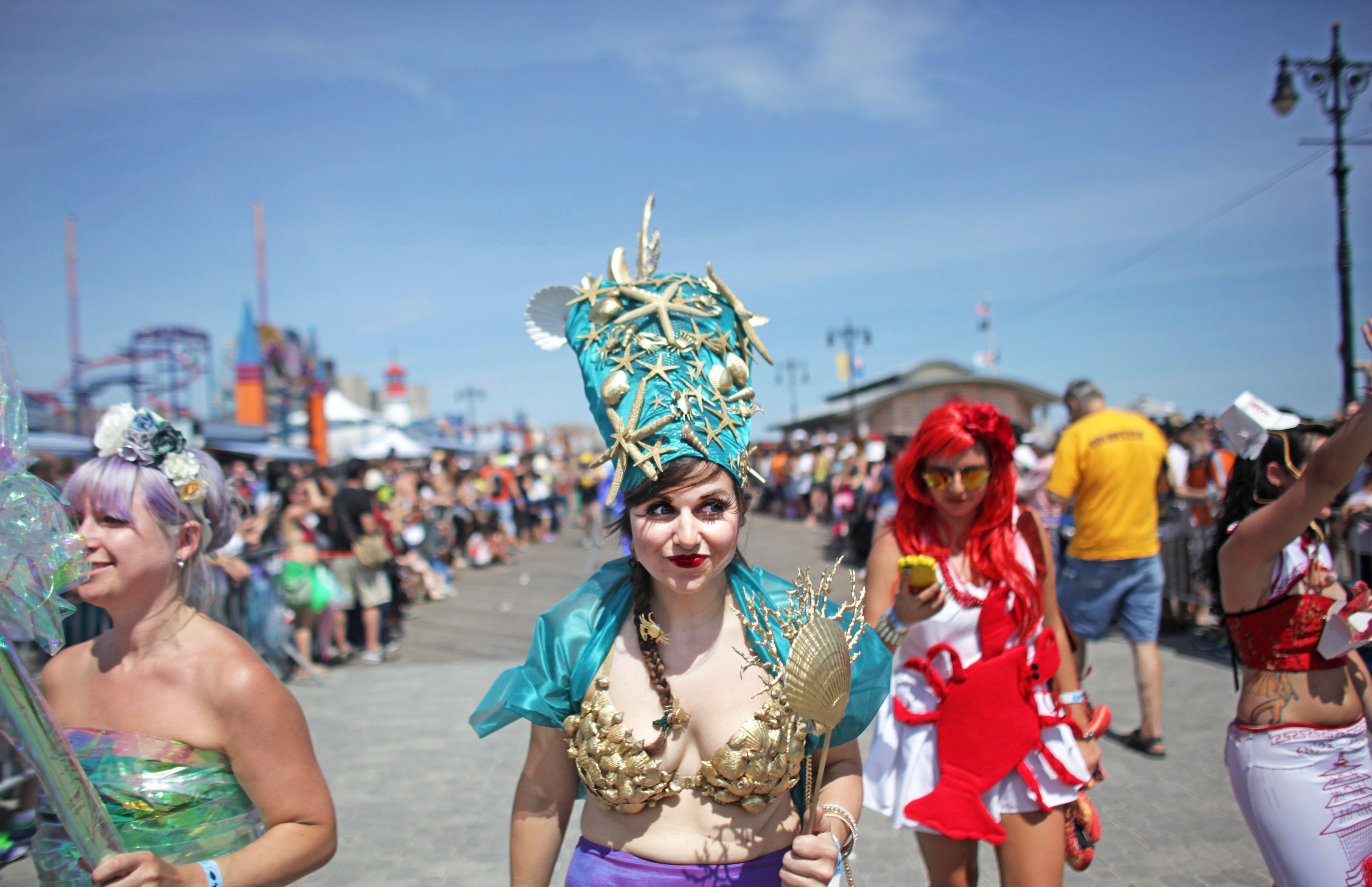 Desfile anual de sirenas Celebrada en Coney Island