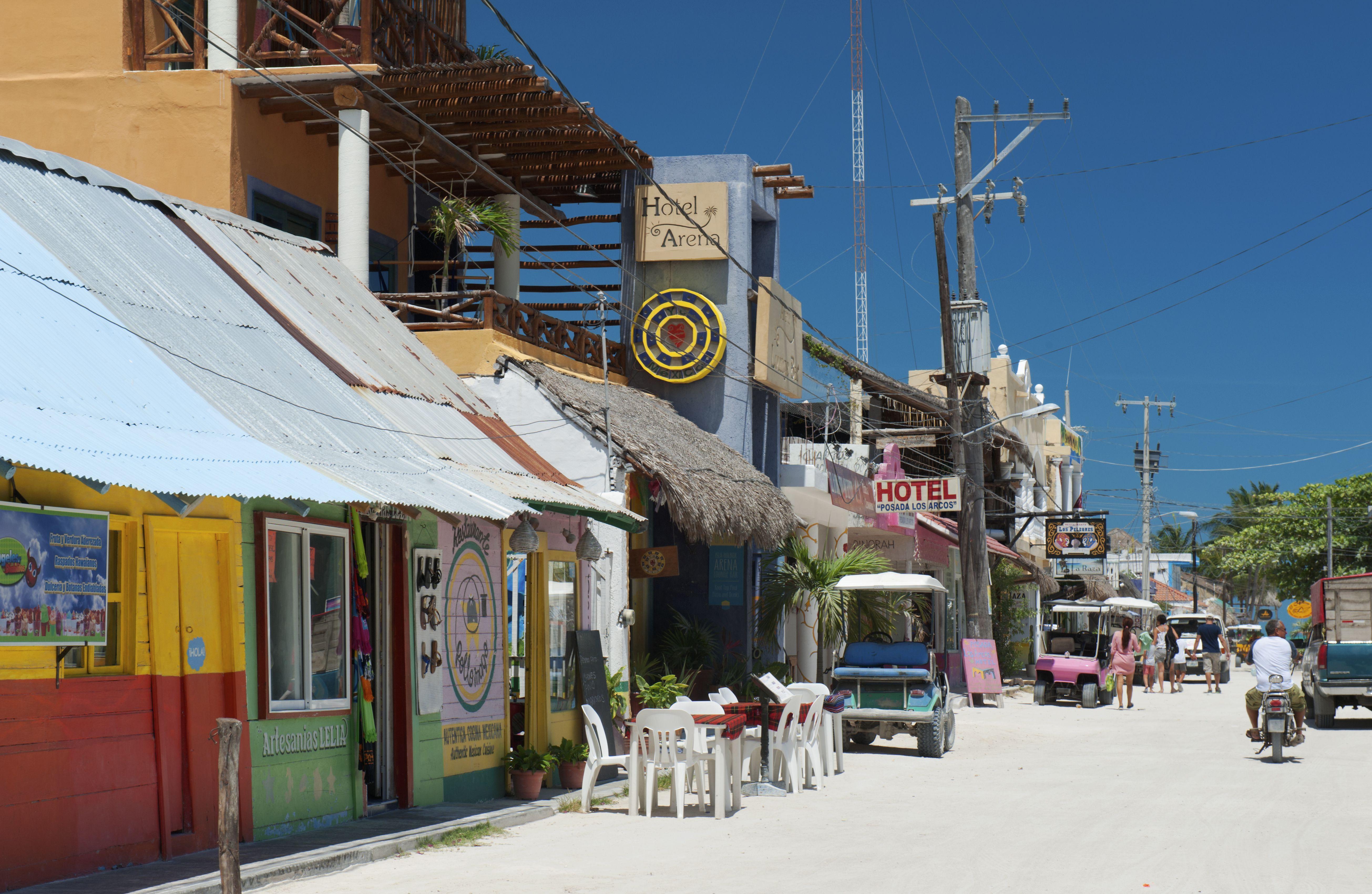 Holbox Island street scene