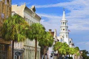 USA, South Carolina, Charleston, Church Street, St. Philip's Church