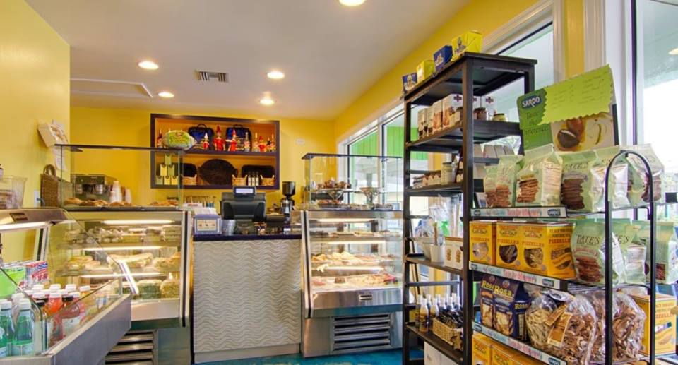 Shelves of sweets at Pinocchio's Original Italian Ice Cream