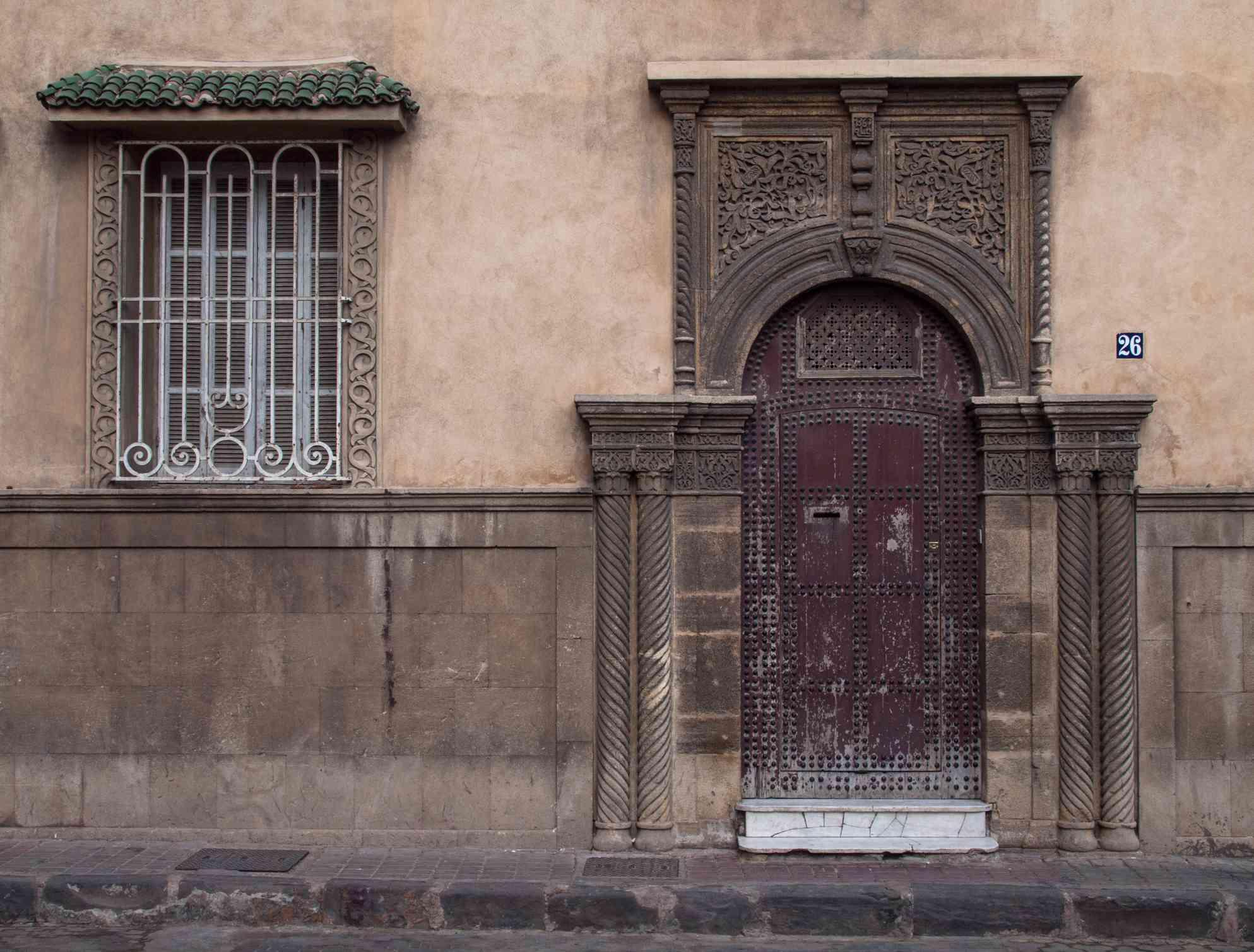 Old doorway in the medina of Casablanca