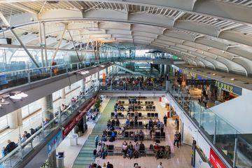 Inside Dubrovnik's airport terminal
