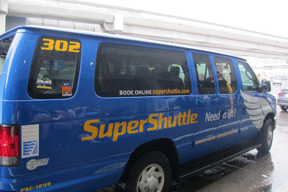 SuperShuttle van