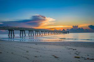 Deerfield Pier at Sunrise in Deerfield Florida