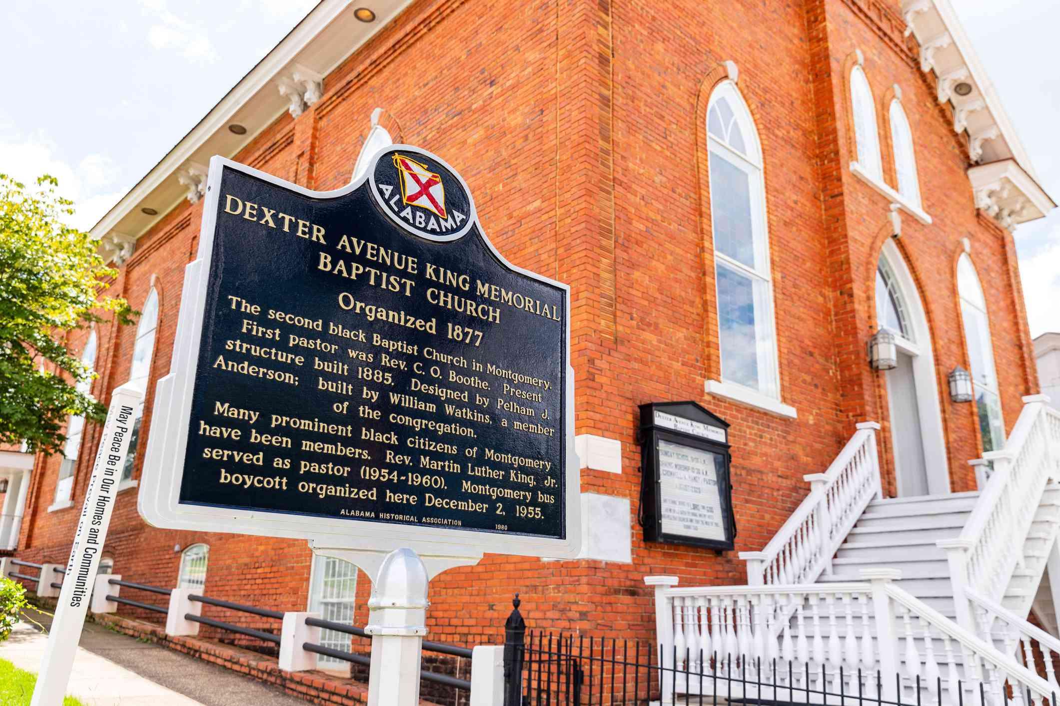 Dexter Avenue King Memorial Baptist Church in Montgomery Alabama