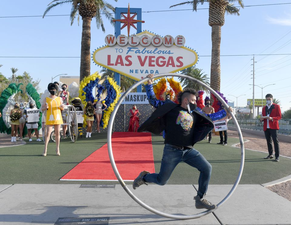 Las Vegas Entertainers Kick Off Pro-Mask Wearing Campaign With Fashion Show Amid Spike In COVID-19 Cases