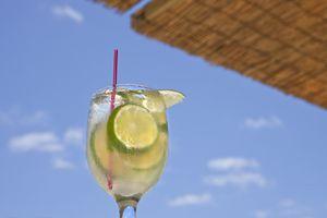 Drink at a beach bar
