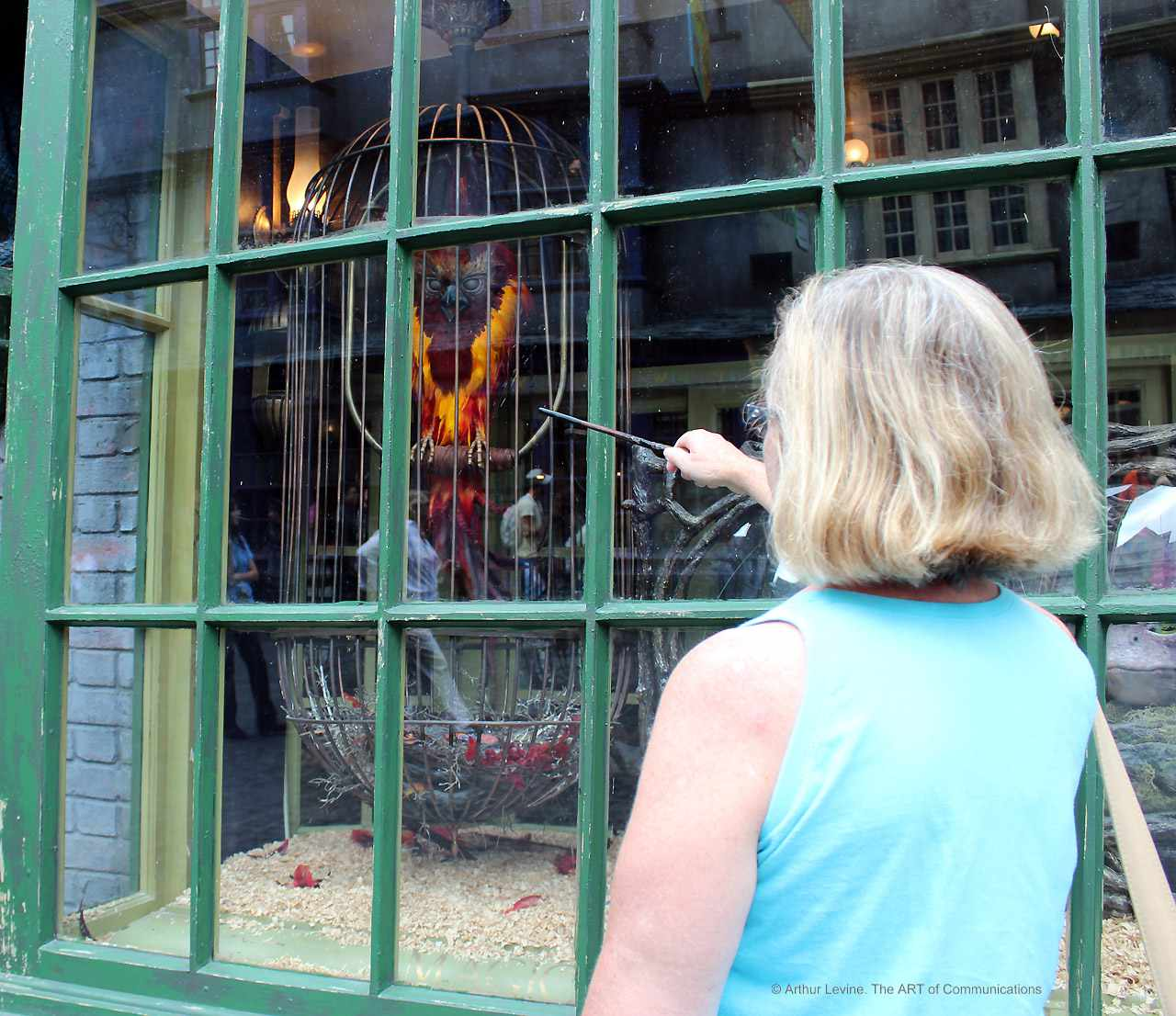 Interactive wand at the Wizarding World of Harry Potter