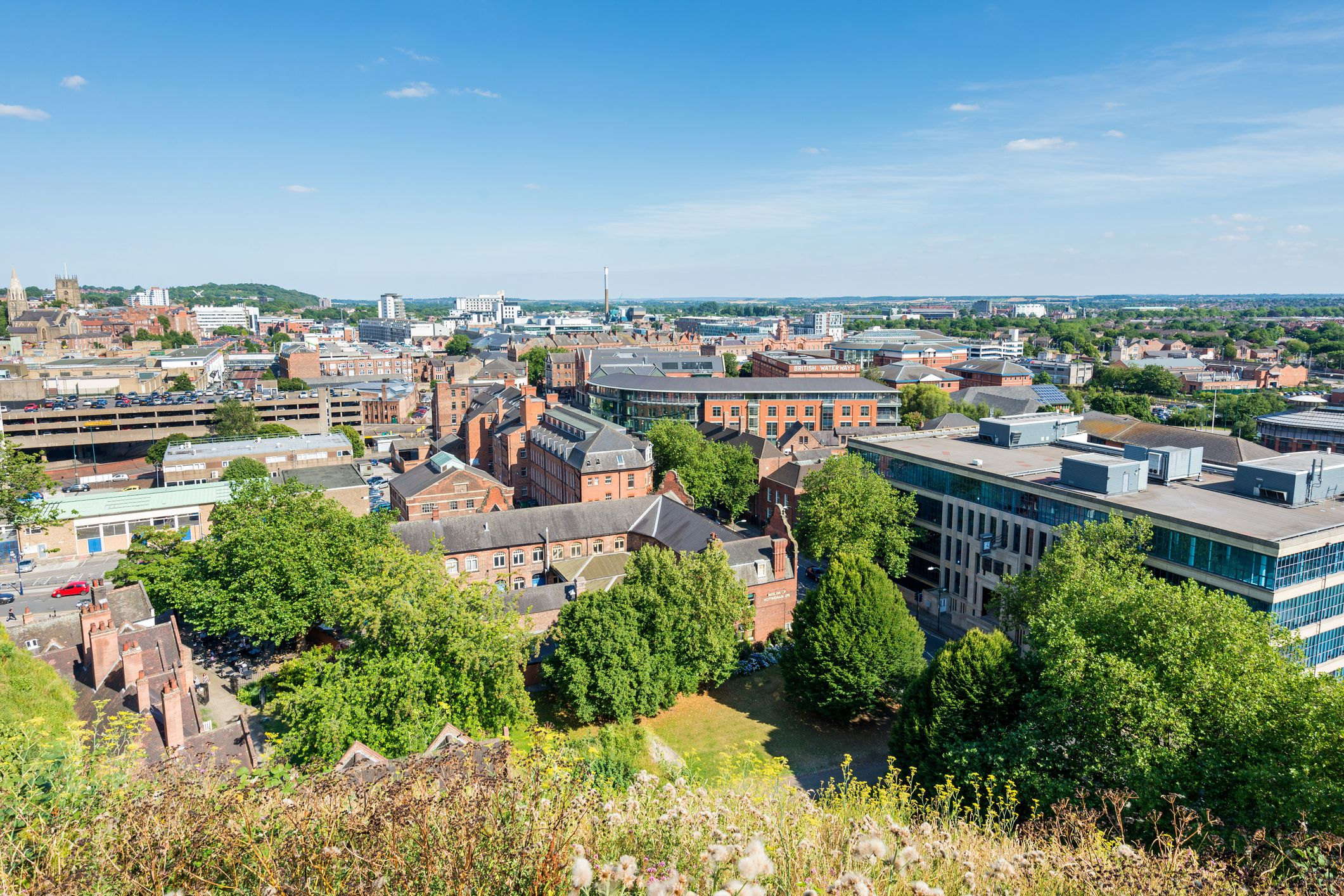 Skyline of Nottingham, Nottinghamshire, Inglaterra