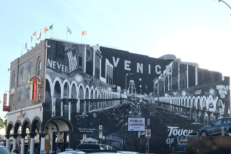 Touch Of Venice Mural In Beach