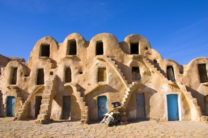 Traditional Berber houses in Tunisia