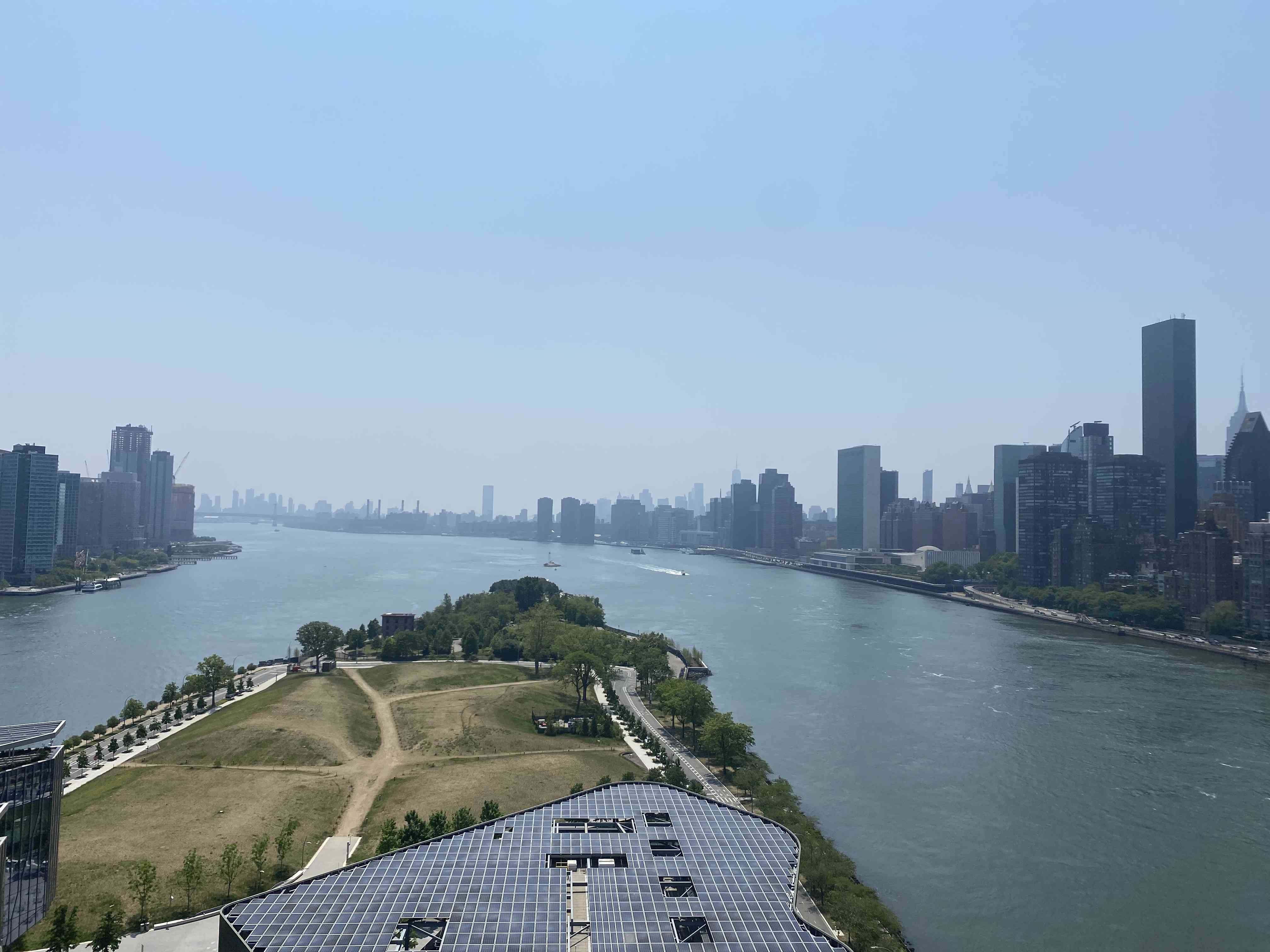 View of NYC from Graduate Roosevelt Island