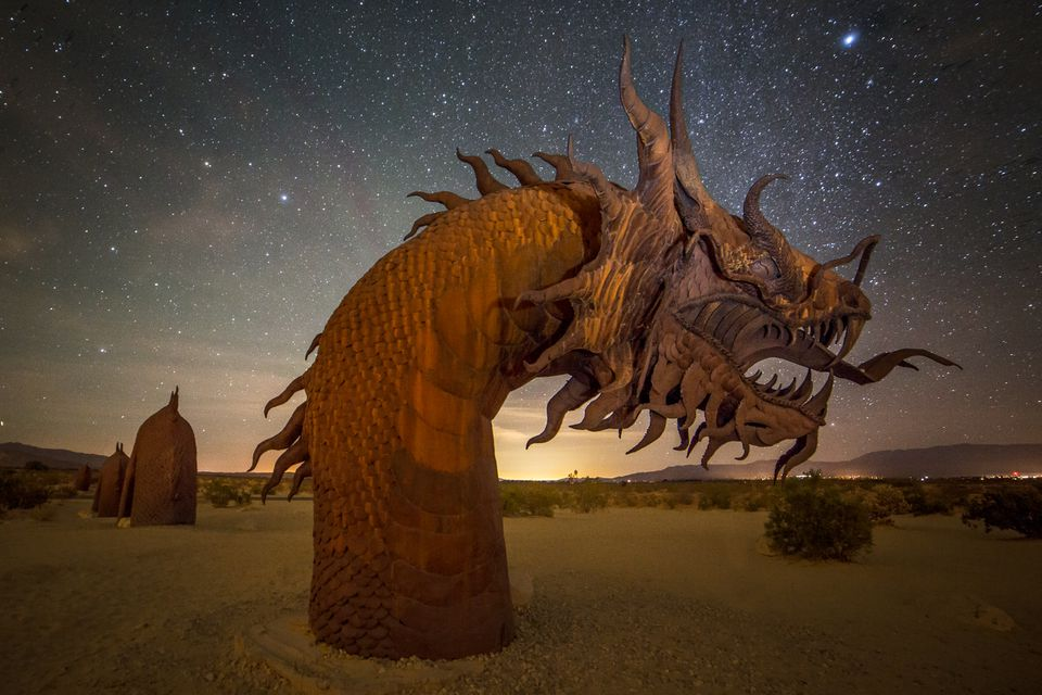 a Borrego Springs sculpture