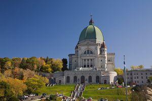 Saint-Josephs Oratory in autumn, Montreal, Quebec, Canada