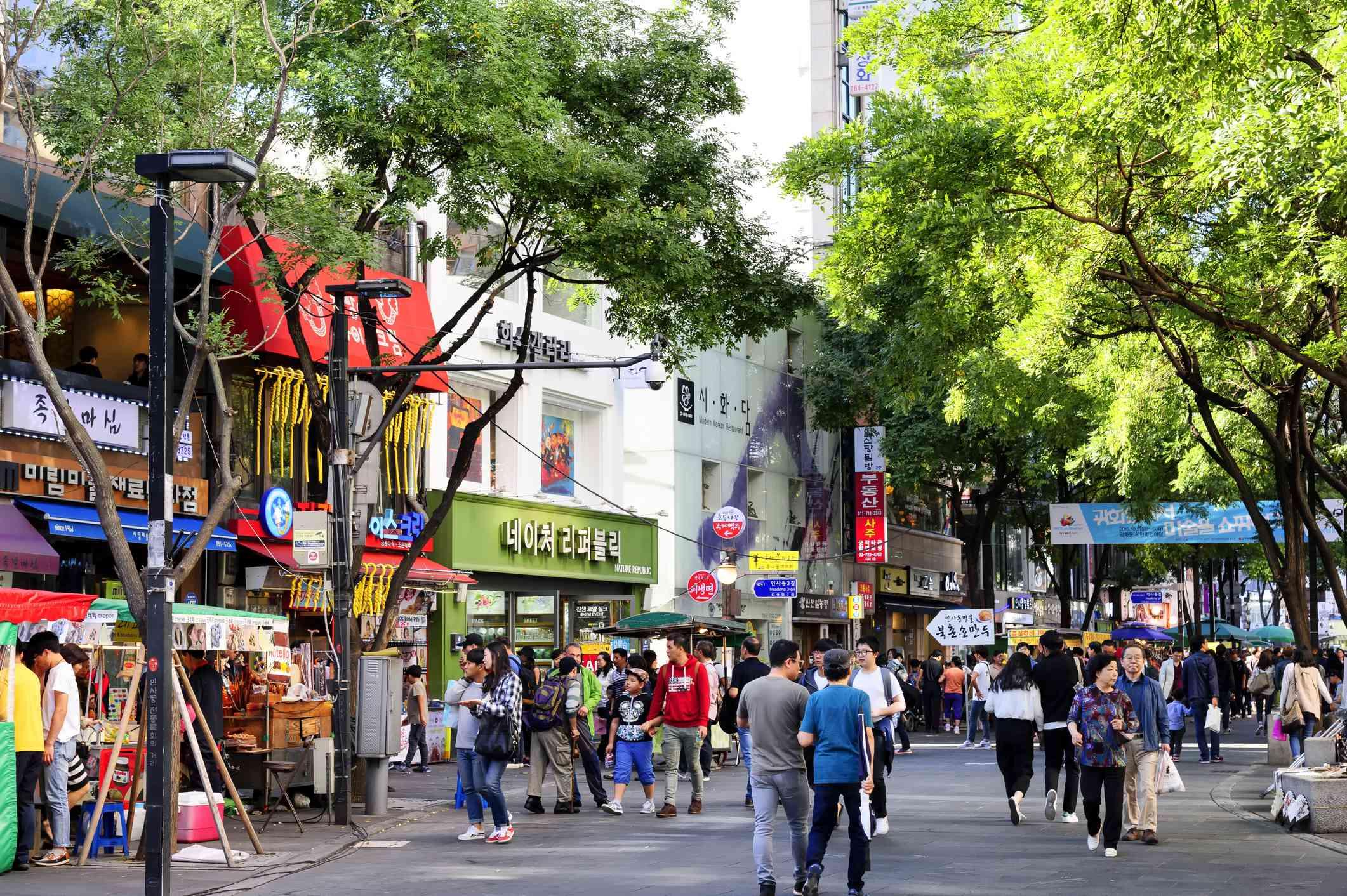 Hongdae shopping street