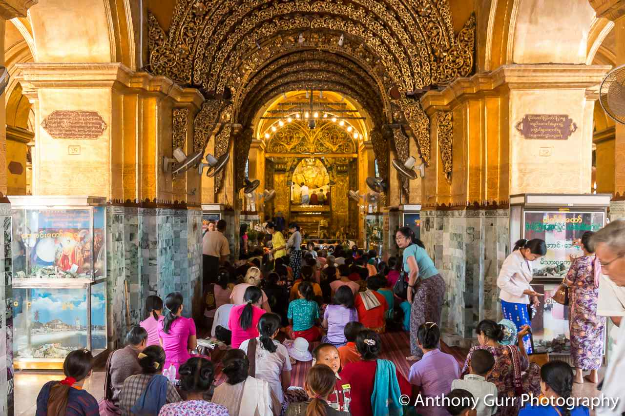 Inside Mahamuni Pagoda, Mandalay, Myanmar