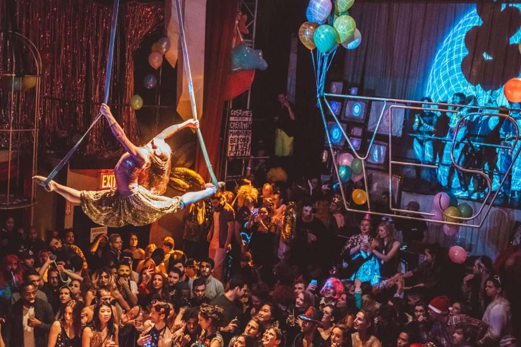 Aerial performer at House of Yes
