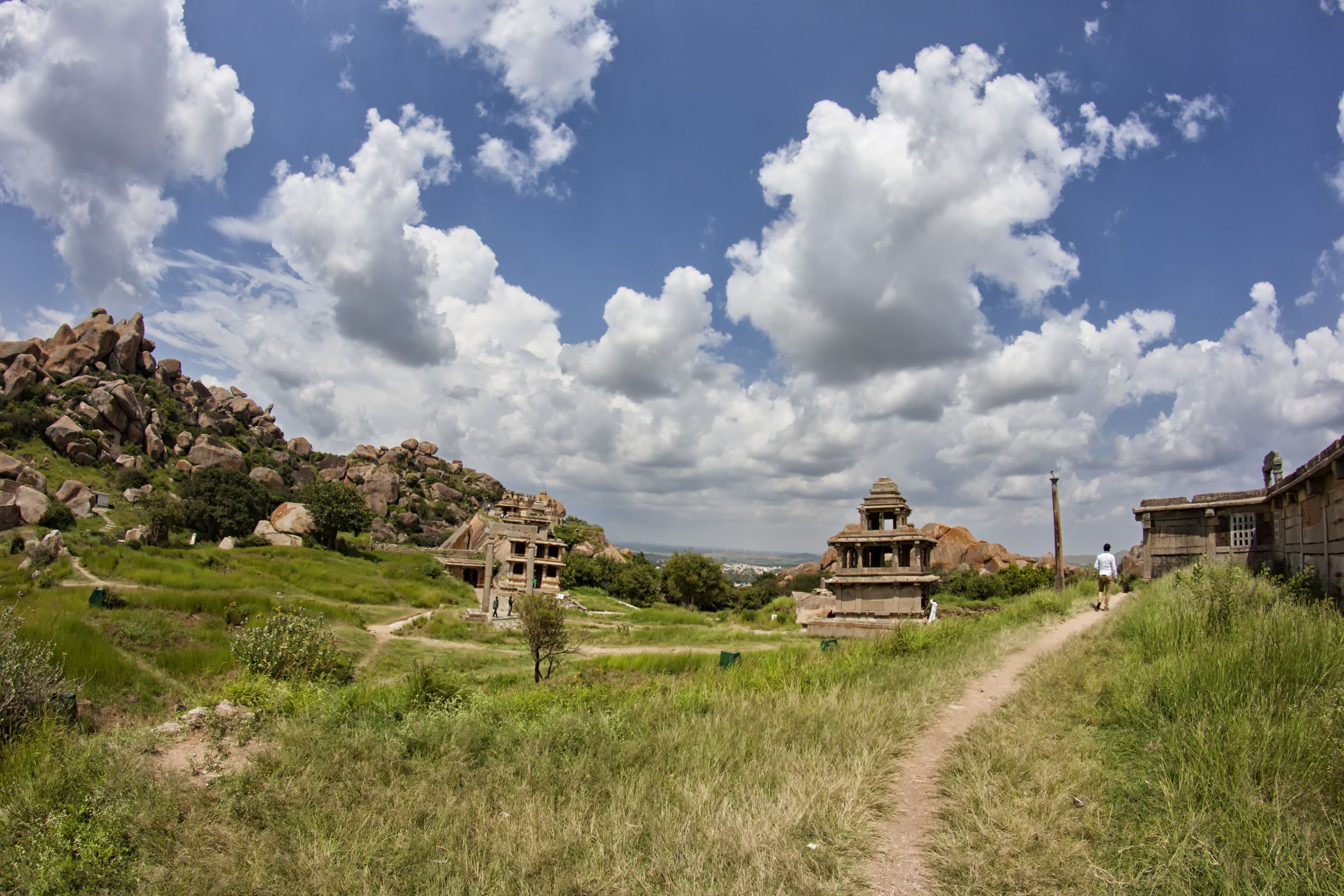 The remains inside ChitraDurga Fort