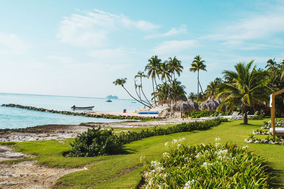 View of a private beach in Club Med's Punta Cana location