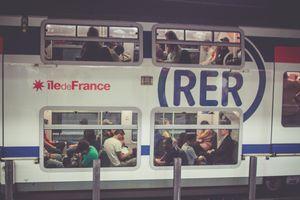 An RER commuter-line train in Paris