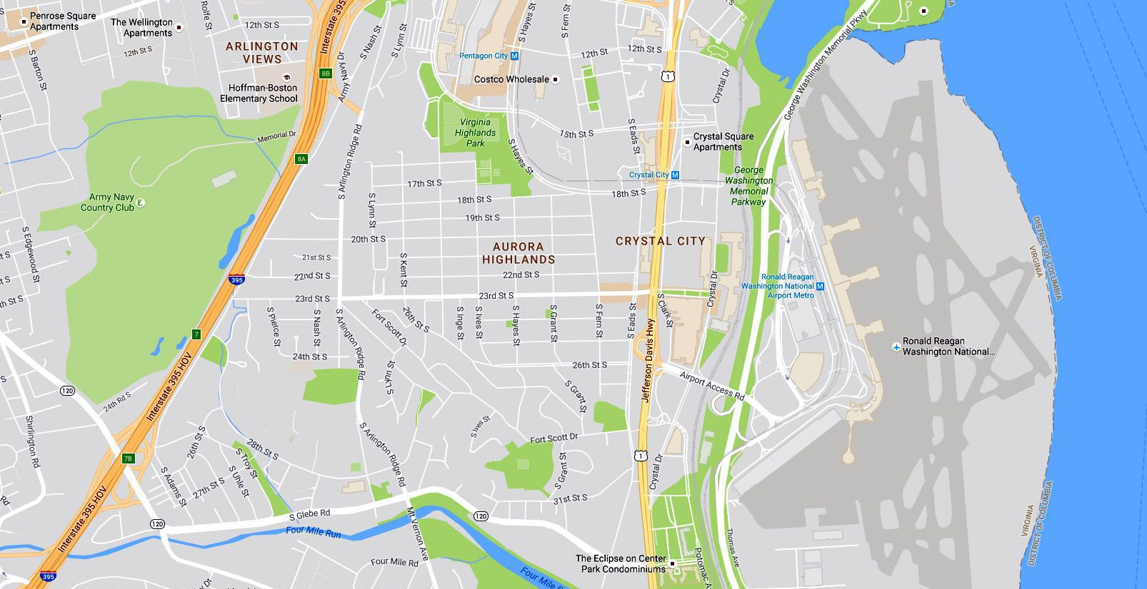 Crystal City Maps Arlington Virginia Directions