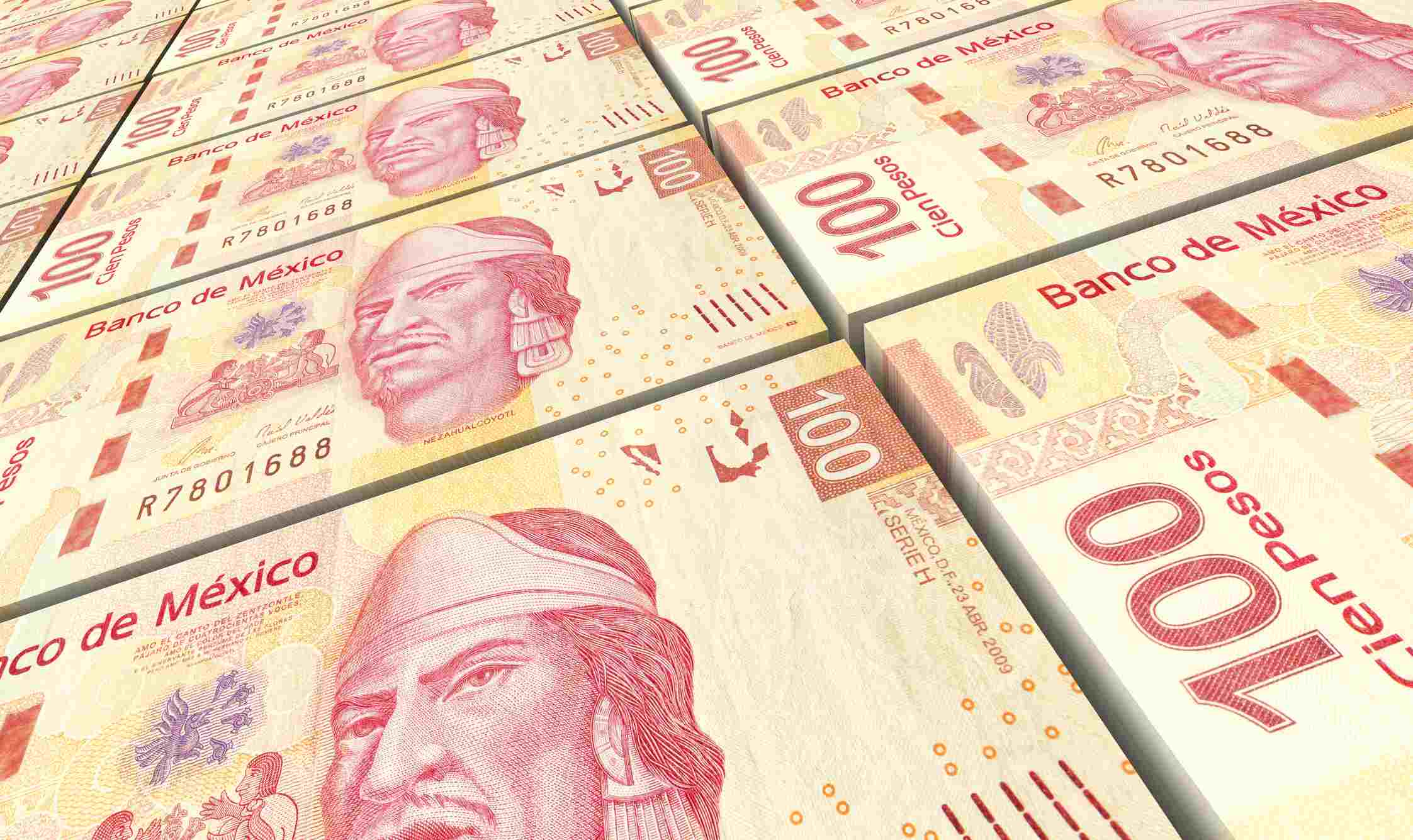Mexican one hundred pesos note