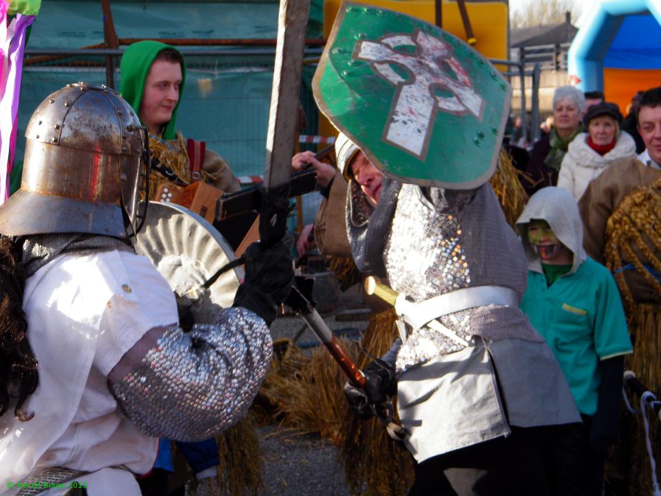 The Knight of Saint Patrick battling Saint George