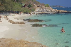 Blue water at Ao Phrao Beach on Koh Samet, Thailand
