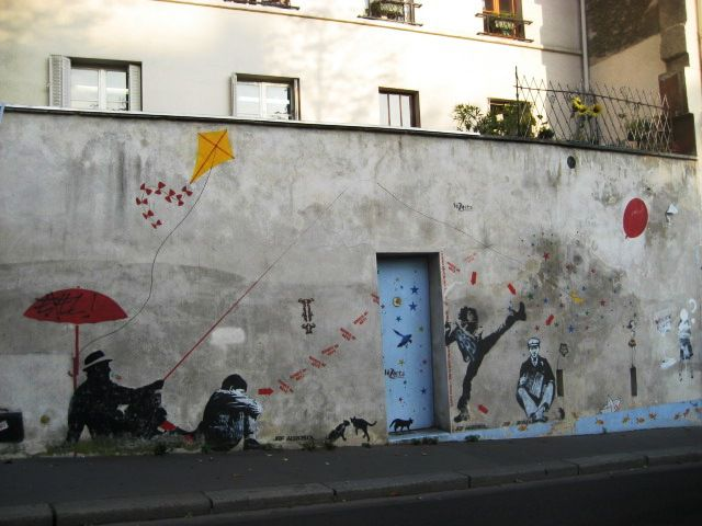 Street art in the Butte aux Cailles neighborhood, Paris