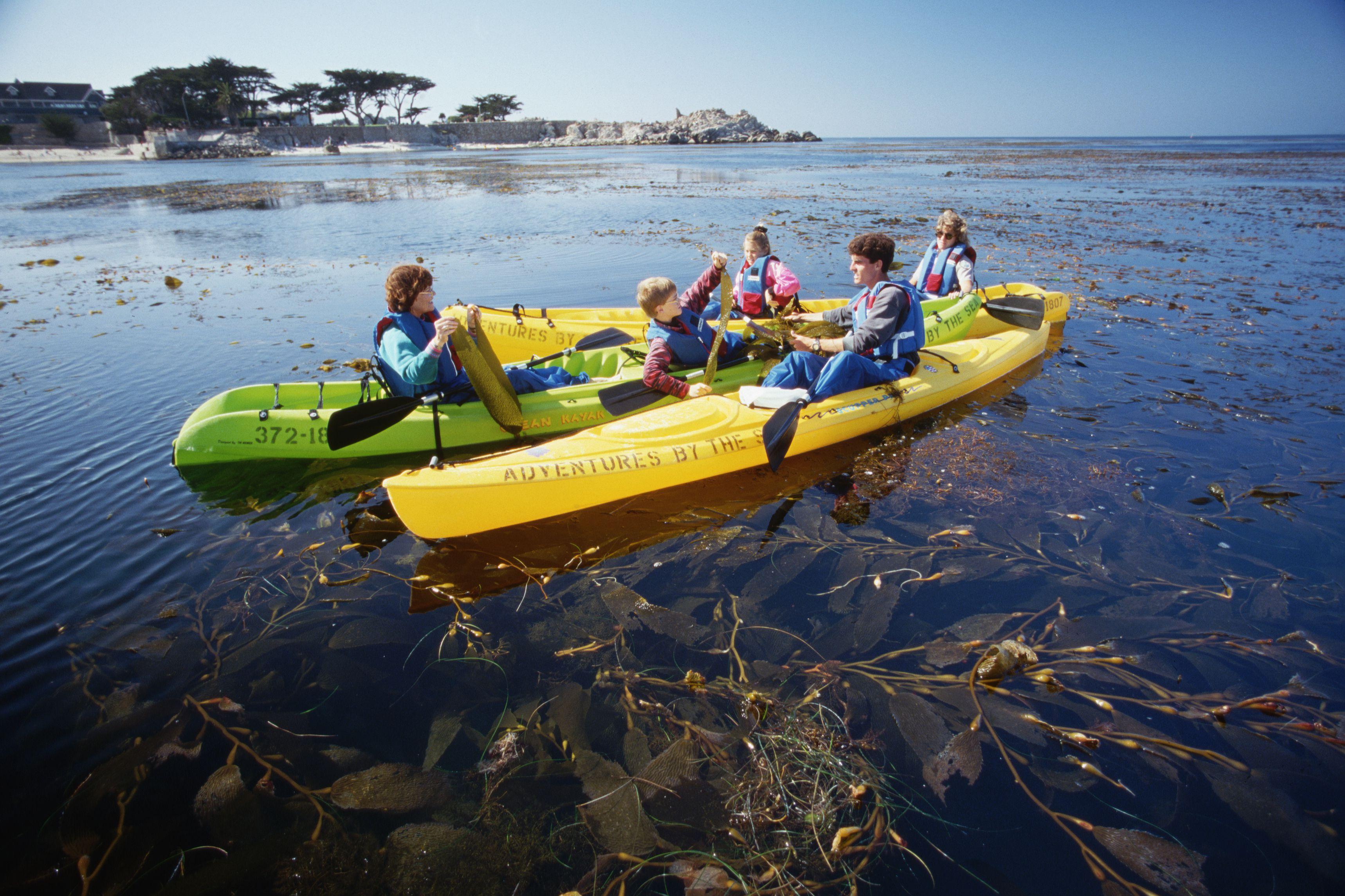 Family Kayaking in Monterey Bay