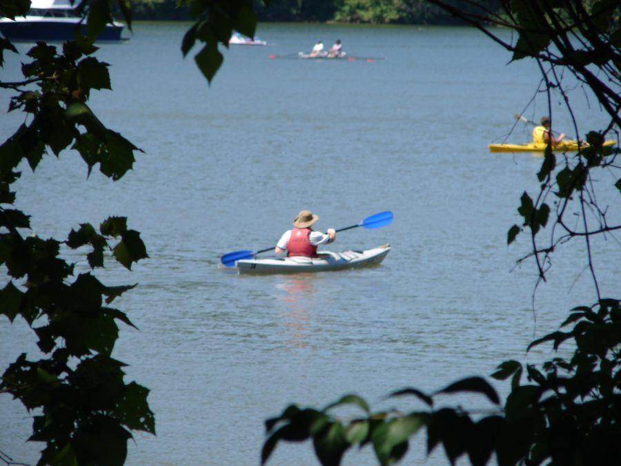 Kayaking on water in Washington, DC