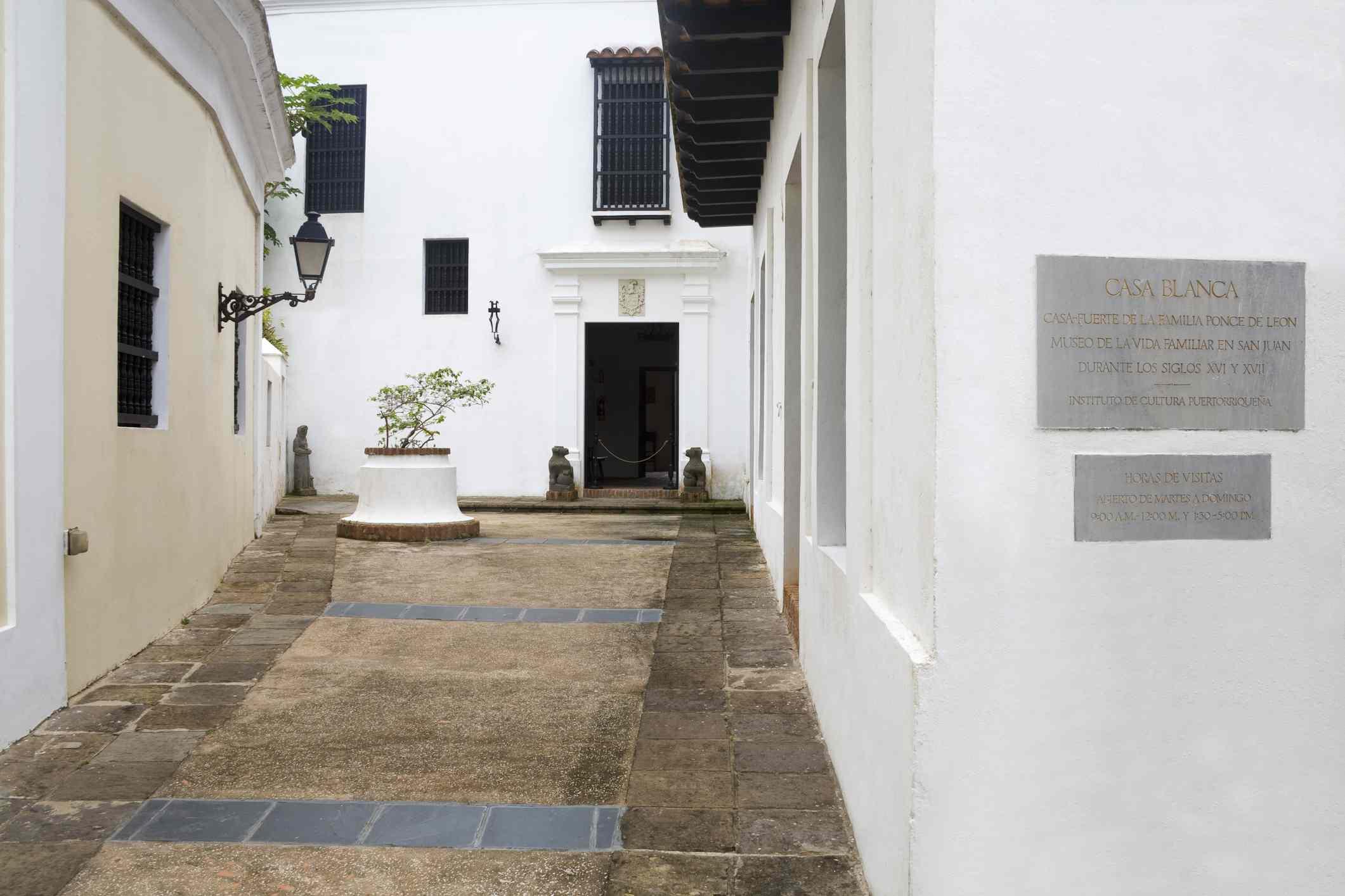 Casa Blanca Museum in Old San Juan