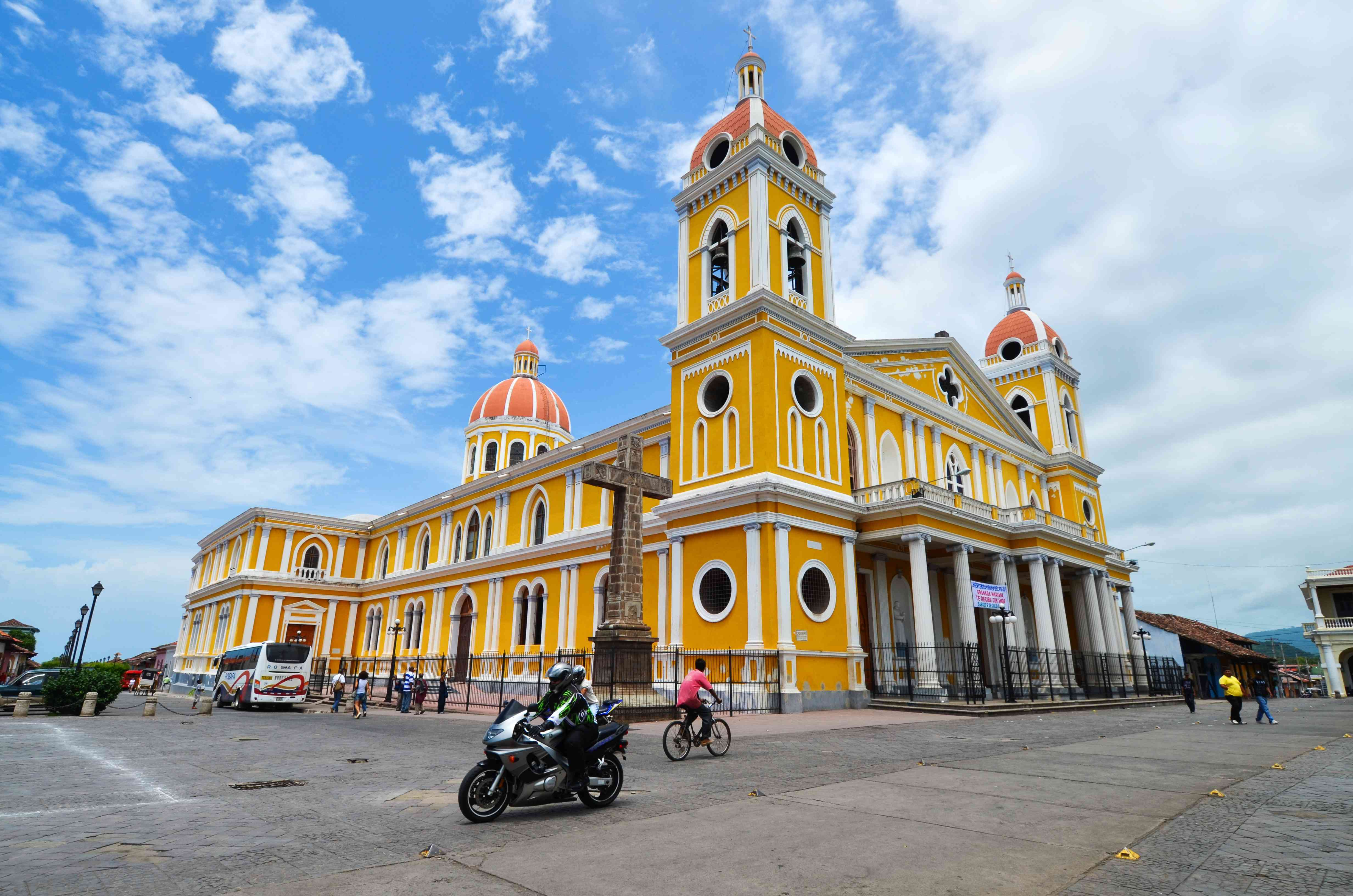 The neoclassical cathedral of Granada, Nicaragua
