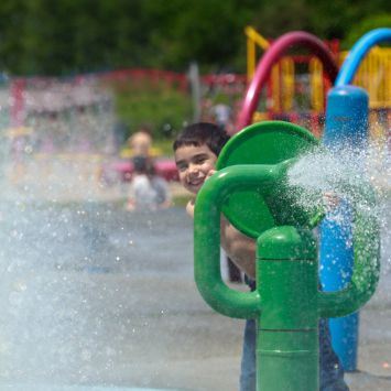 Splash Pads are found across Toronto and other Canadian cities and operate from about June to September.