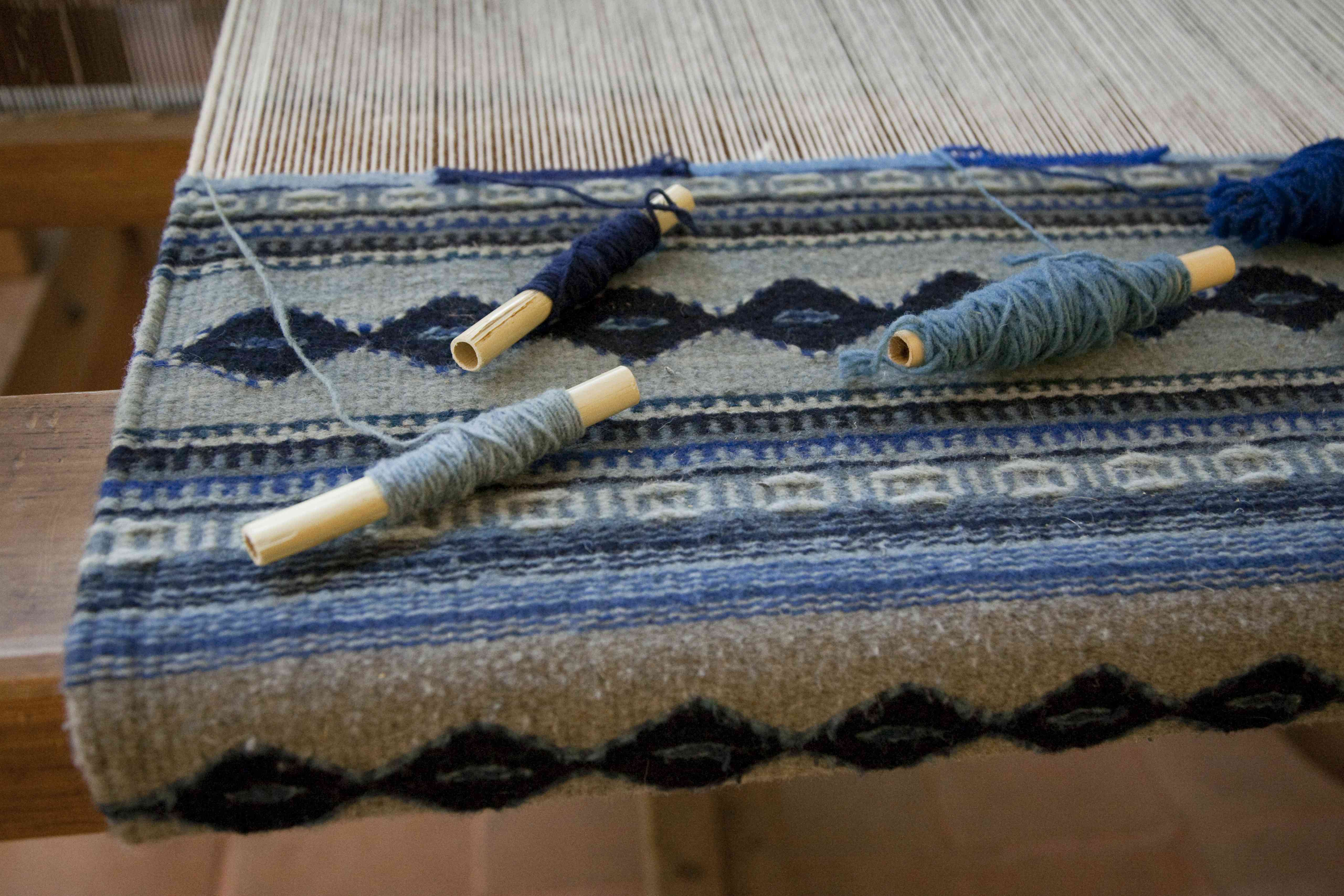 Weaving loom, Teotitlan del Valle, Mexico