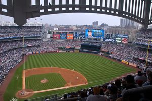 The view from the Grandstand Level at New Yankee Stadium
