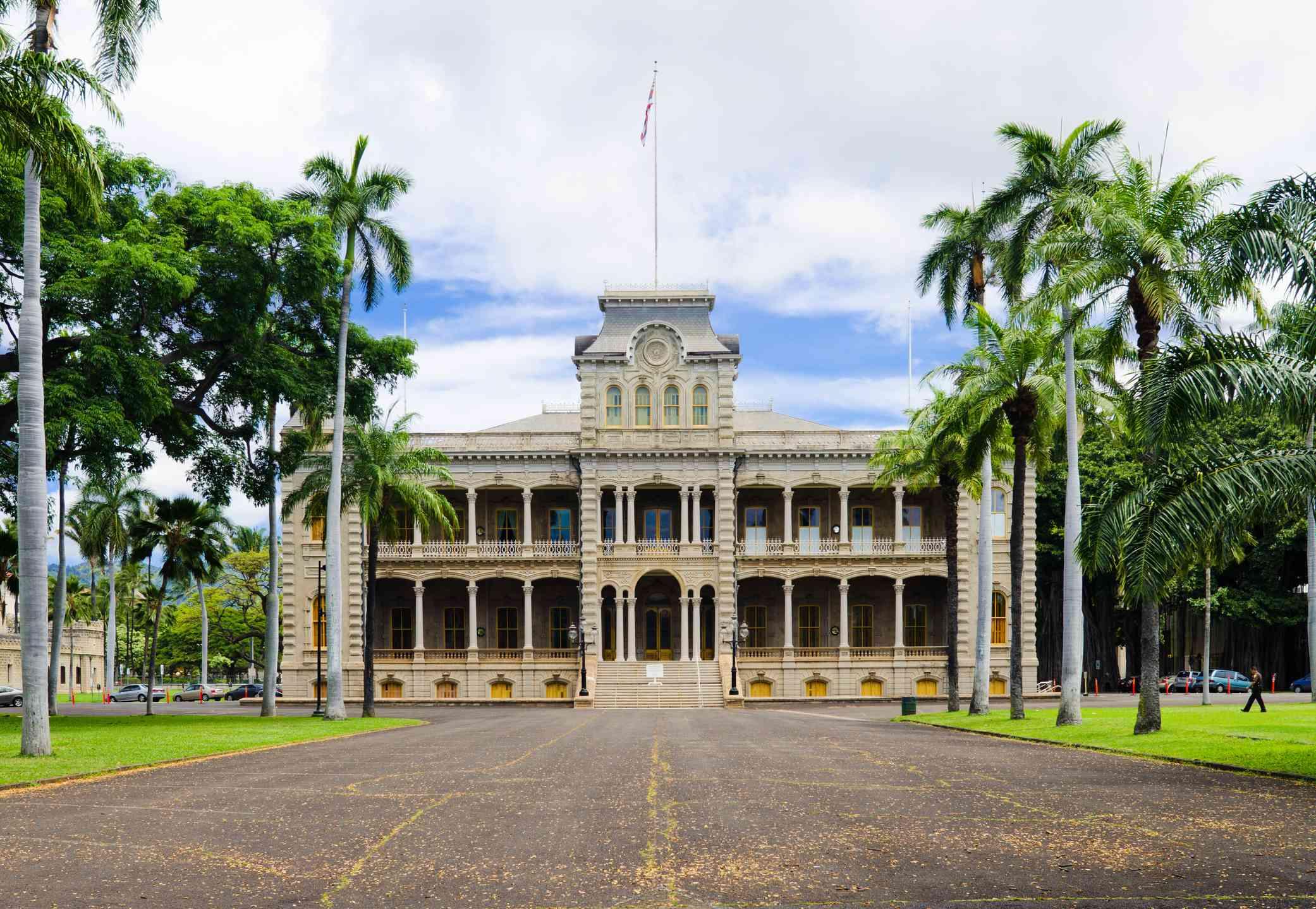 Iolani Palace on Oahu, Hawaii