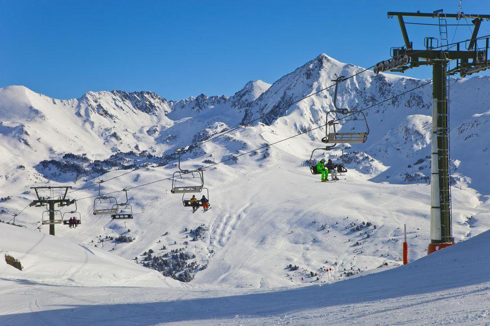 Skiing in Baqueira. Skiing, Baqueira