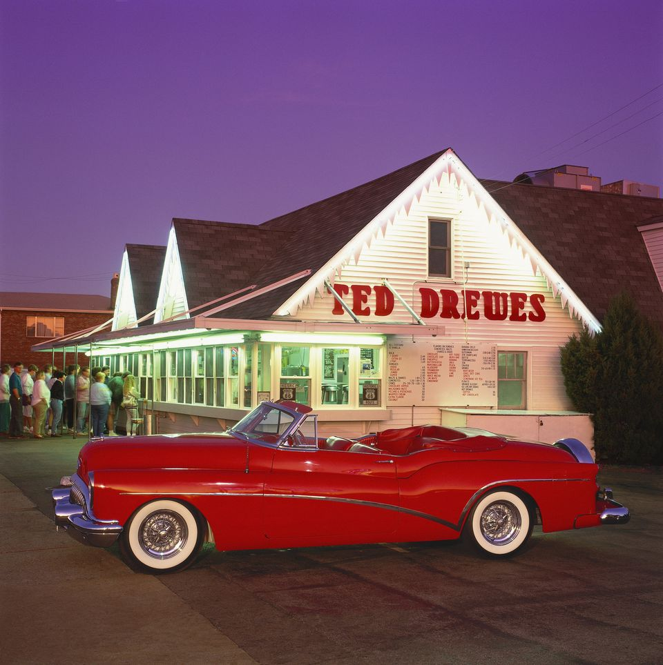 1953 Buick in front of Ted Drewes in St. Louis