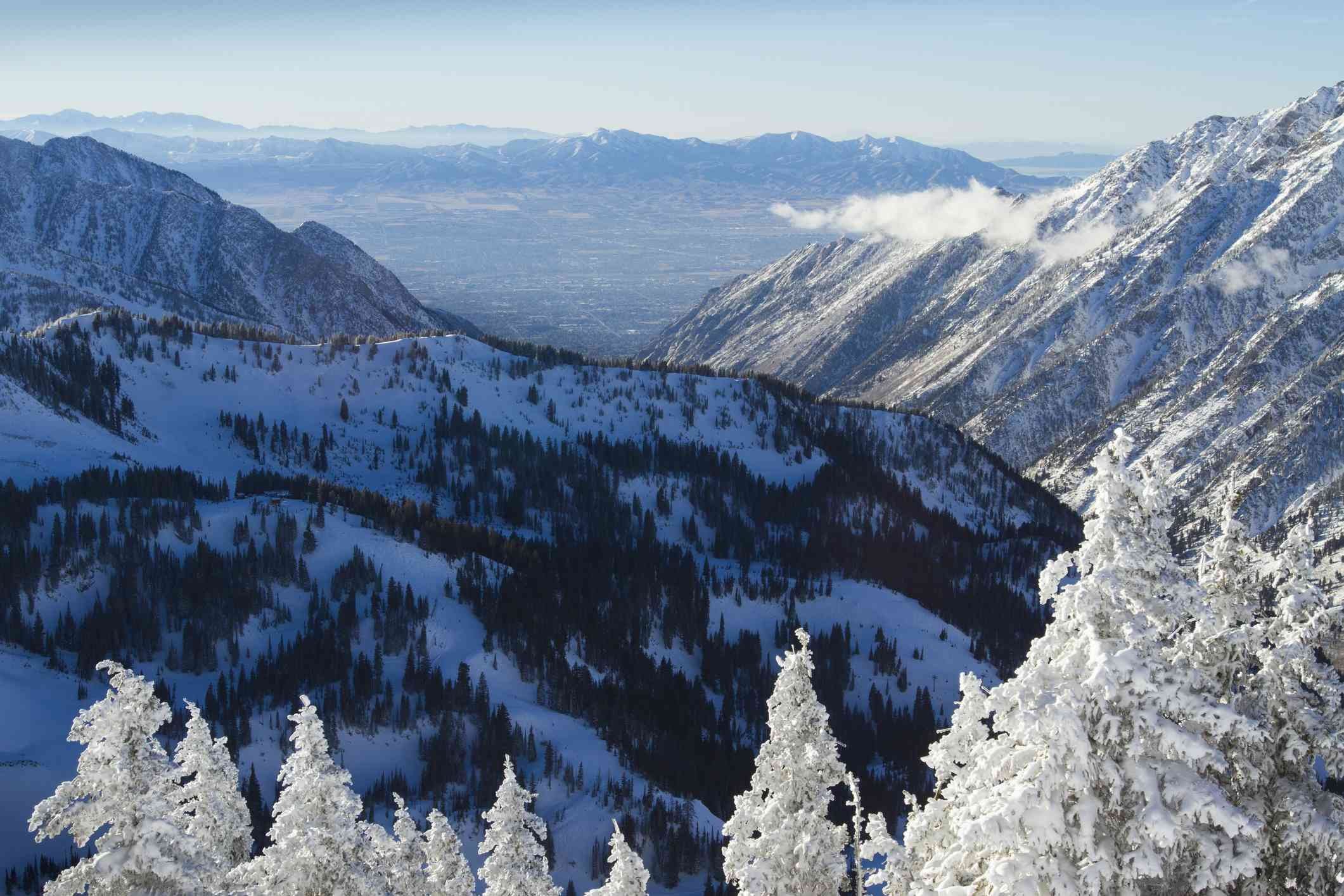 Wasatch Mountains in Winter