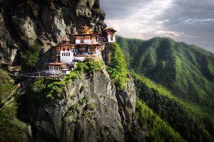 Tiger Nest Monastery. Located near city of Paro in Kingdom of Bhutan.