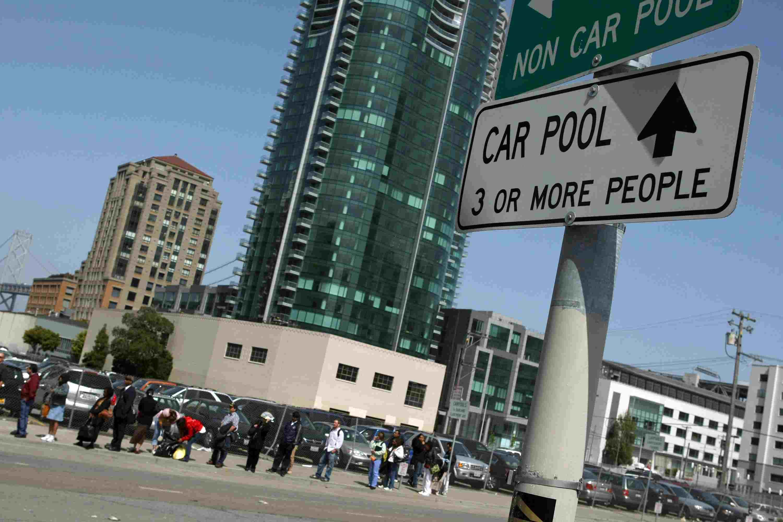 Uber allows a car pool option.