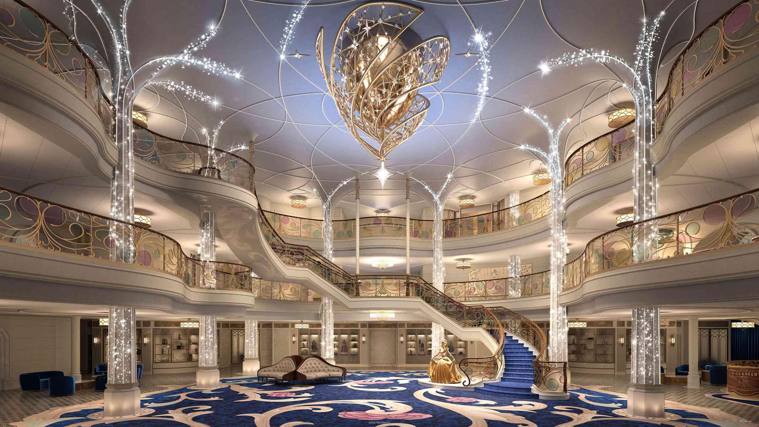 Disney Wish cruise ship Grand Hall