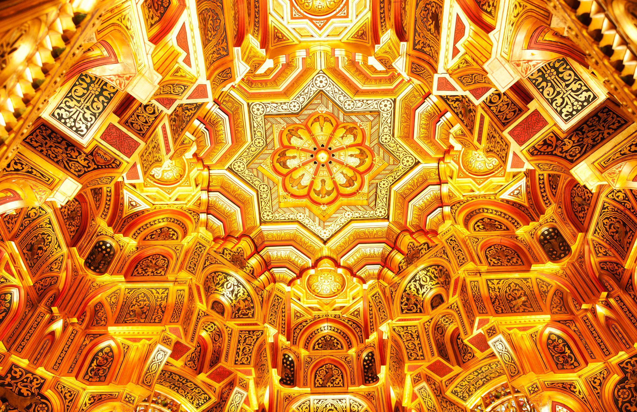Cardiff Castle Arab Room Ceiling, Wales